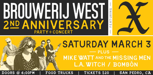Win tickets to Brouwerij West's 2nd Anniversary Party and